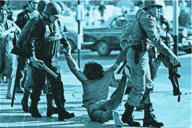 Imagen mosaico Represión